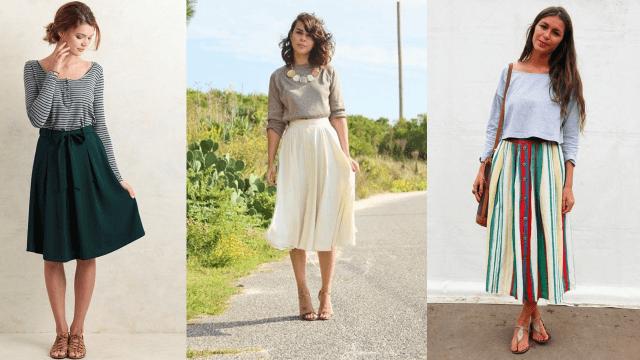 אורך חולצה וחצאית