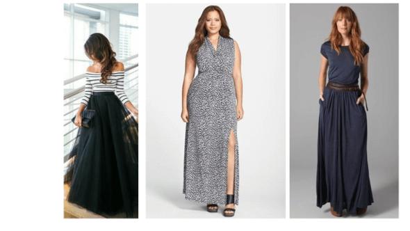 איך לבחור שמלת מקסי